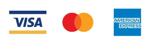 クレジットカード(Visa、Mastercard、American Express)